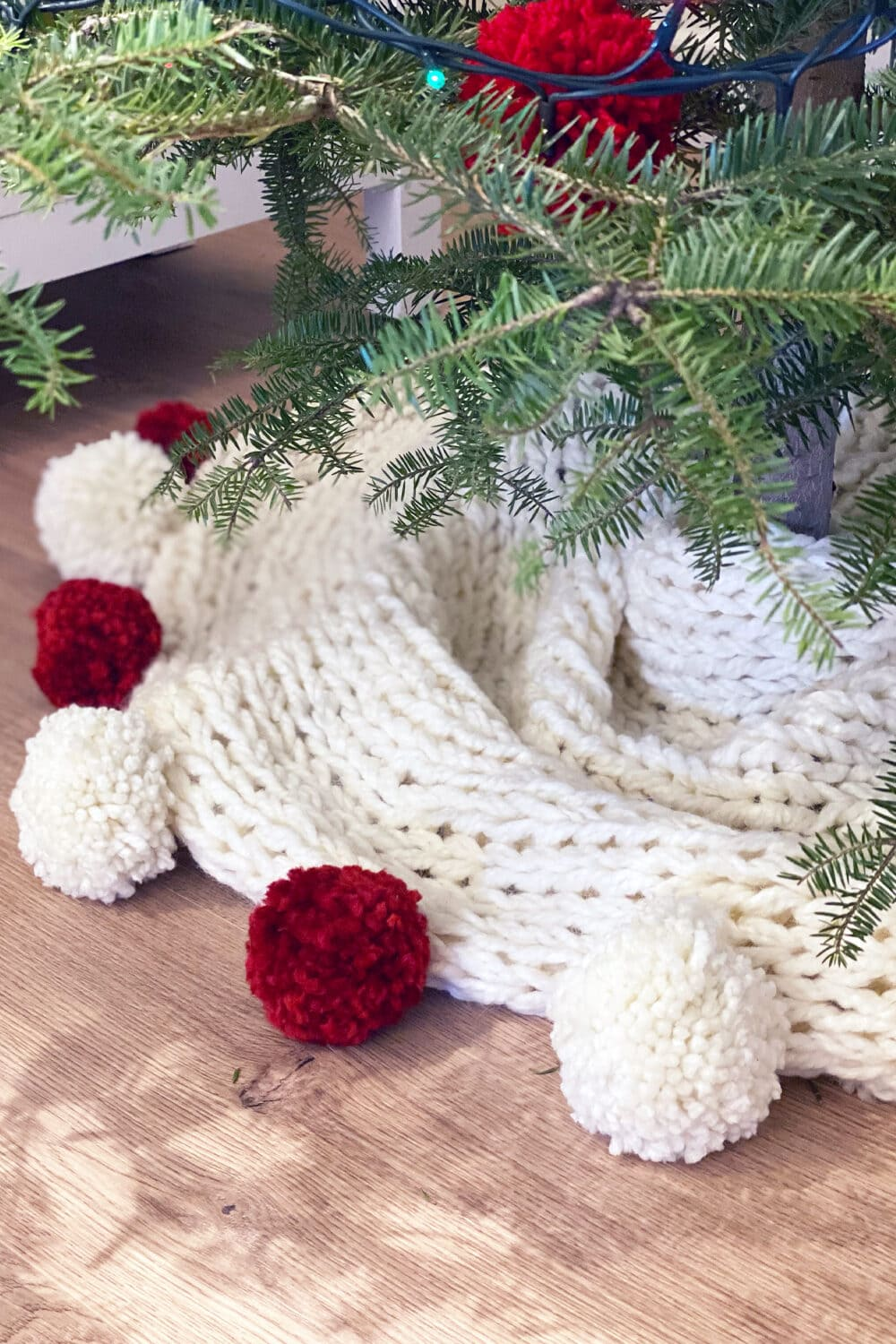 Christmas Tree Skirt Pattern Chunky Knit Handy Little Me