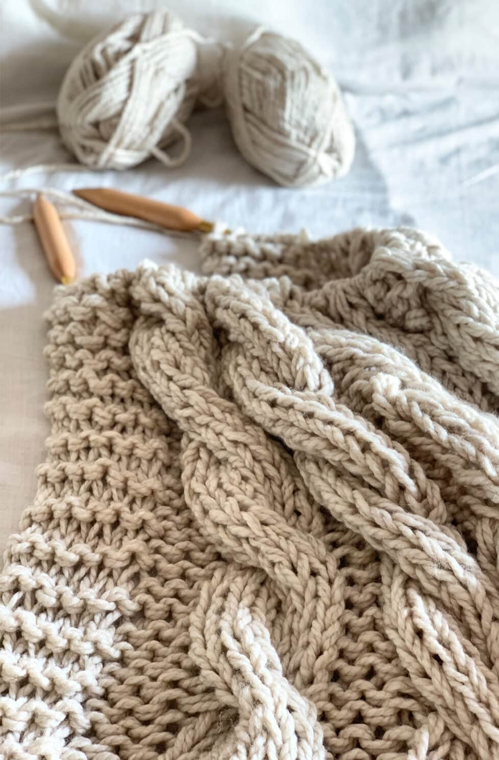 Chunky Cable Knit Blanket Pattern Handy Little Me