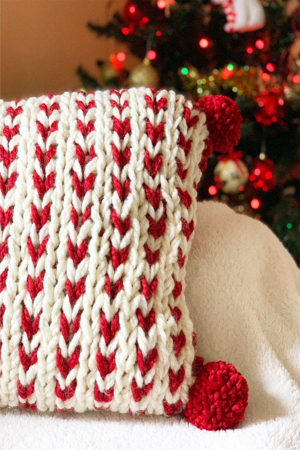 Chunky Knit Pillow Cover Quick Knit Handy Little Me
